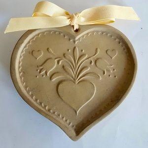Brown Bag Cookie Art Heart Stoneware Craft Mold